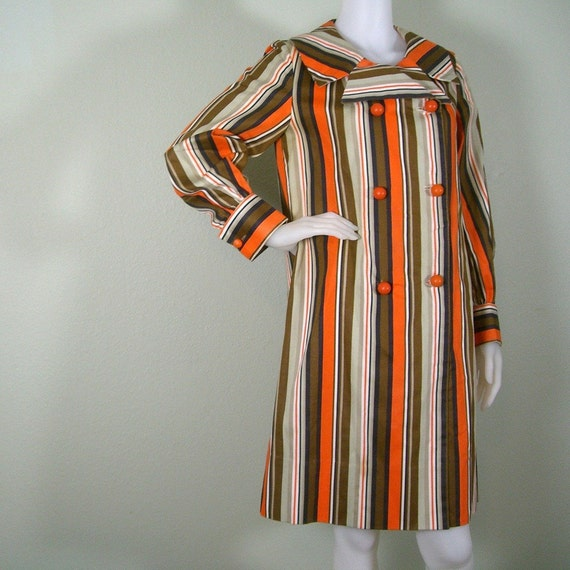 1960s mod striped Carnaby Street style coat