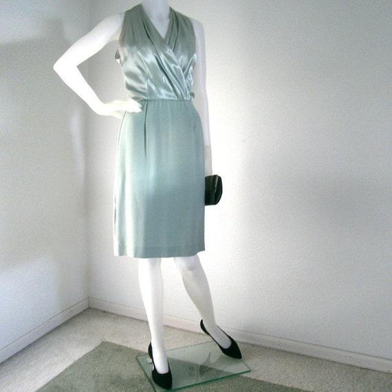 RESERVED - 1960s halter cocktail dress