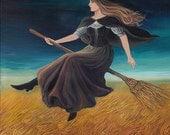 Barley Witch Victorian Pagan Art Goddess Art 5x7 Greeting Card