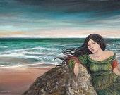 Otohime Japanese Mythology Ocean Goddess Fine Art Print