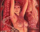 Hathor's Song - Egyptian Goddess of Love Beauty and Music 11x14 Print