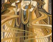 Three Graces Greek Goddesses 5x7 Greeting Card