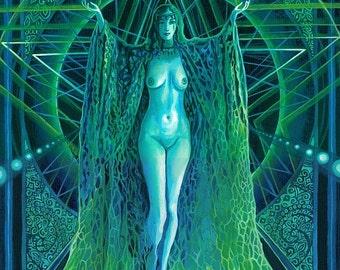 Lilith Pagan Witch Goddess 8x10 Print