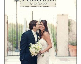 CUSTOM NAME SIGN | Vintage Wedding Sign | Family Sign | Established Sign | Shabby Chic Name Sign | Fleur De Lis | Mr and Mrs Sign | Wood