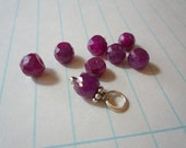 Add a Charm - Faceted Ruby Rondel 6-7mm
