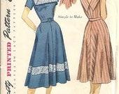 Simplicity 3552 Misses Sundress 50s Vintage Sewing Pattern Size 18 Bust 36 Uncut Square Neckline