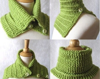 Convertible Scarf Pattern:  Knit Capelet Cowl Plus 2 Tutorials Instant Download
