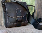 RESERVED for Bonnie / the FIELD Bag / Hand Stitched Leather Cross Body Bag / Satchel / Feral Empire