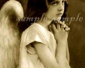 no502 VINTAGE Angel photo - instant DIGITAL DOWNLOAD - mixed media Altered Art Paper Supplies -