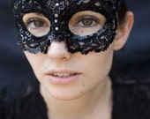 Masquerade - Tatted Sequin Lace Mask - Custom Piece