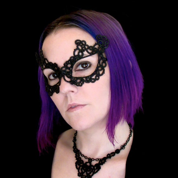 Tatted Lace Mask - Your Eyes Can Be So Cruel