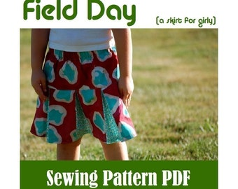 SEWING PATTERN - Field Day Skirt (PDF Download)