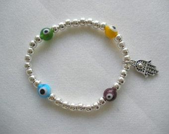 Magic Eye or Evil Eye and Hamsa Bracelet