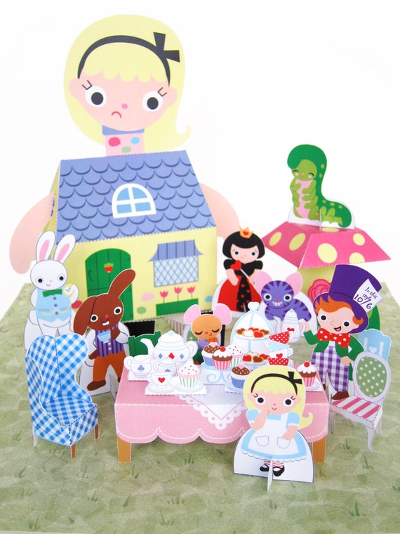 Alice in Wonderland Playset Printable