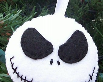 Angry Jack Nightmare Before Christmas Felt Ornament