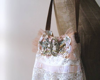 Antique Buckle Bow, Bag, Vintage Lace, Wedding, Flapper, Shoulder Bag, Magazine Feature