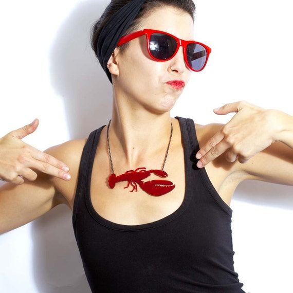Red Rock Lobster Necklace