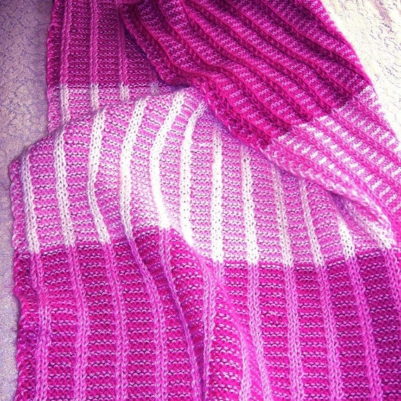 Knitting Pattern Reversible Baby Afghan with by MountainMist