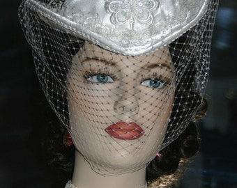 Victorian Hat Wedding Petite - Mademoiselle Dupree - OAK