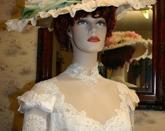 Somewhere in Time Hat Edwardian TITANIC Hat - Miss Spring Song - Includes Hat Pin