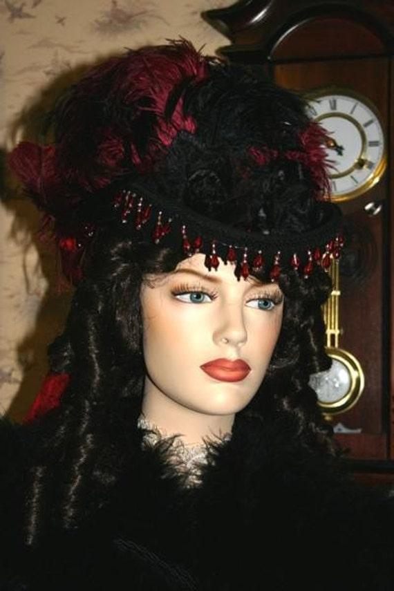 "Victorian SASS Hat Riding Hat Side Saddle Hat Victorian Hat """"Spirit of Tuscaloosa"