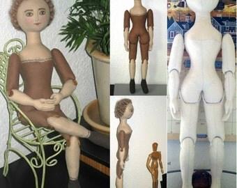 Penny Cloth Doll Making Class & Pattern on PDF