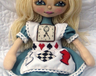 Alice in Wonderland Cloth Doll E-Pattern Pdf