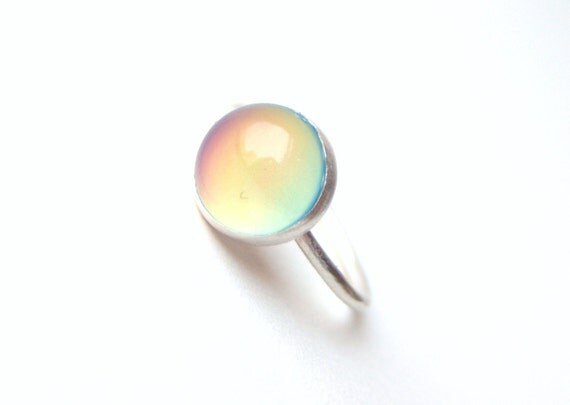 Mood Ring, Medium Sterling Silver