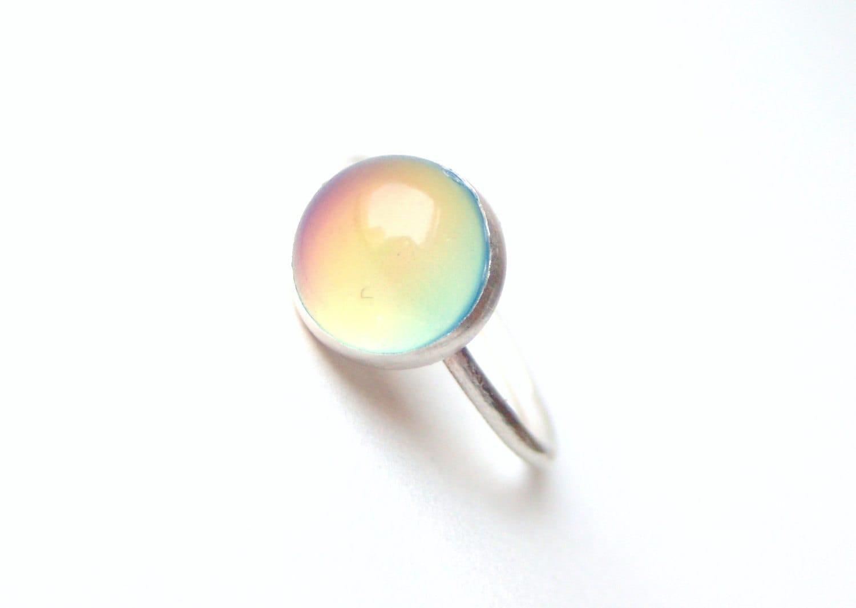 mood ring medium sterling silver