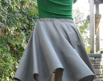 Gray Circle Skirt Womens skirt Custom Made Many Colors Elastic Cotton Full Skirt