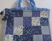 Blue 1950's Inspired Patchwork Bag
