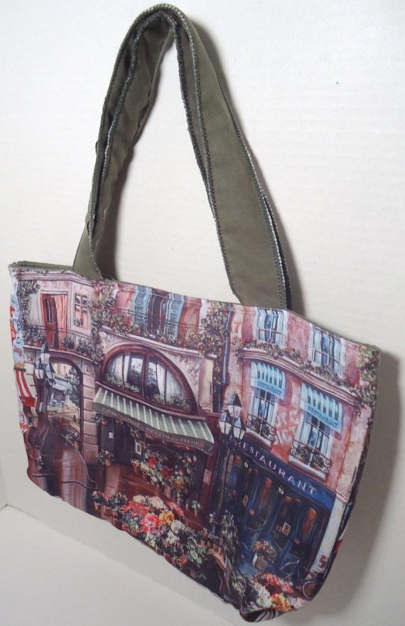 Paris French Market Shabby Chic Romantic purse handbag