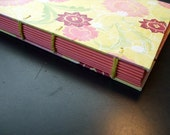 Yellow with Pink Flowers Journal