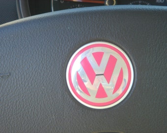 VW Emblem Vinyl Color Inserts for Steering Wheel.