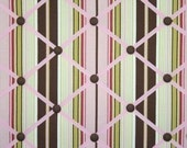 Brown Pink Green Stripe French Memo Board