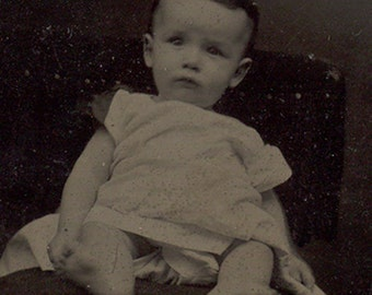 Adorable baby tintype Mark