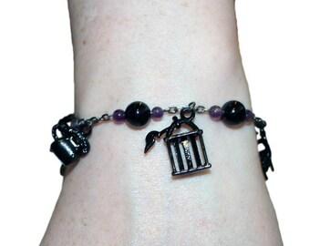 Dark Charms charm bracelet