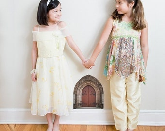 Stone Arched Gothic Fairy Door Wall Decal