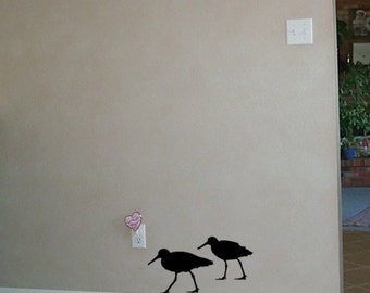 2 Sand Piper  Vinyl Wall Decals