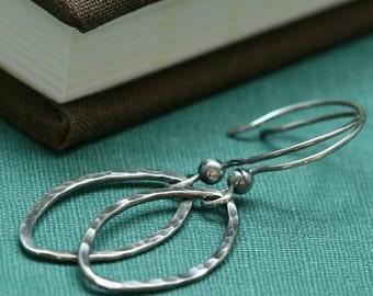 A Petal Dropped - Sterling Silver Earrings