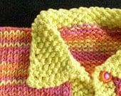 SALE Newborn Girl Knit Sweater in Pink Orange and Yellow