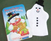 Snowman Hand Puppet and Book Set