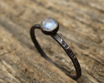 Labradorite - Tiny Stacking Ring