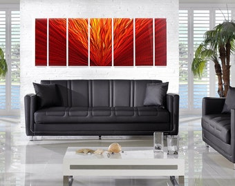 Metal Abstract Wall Painting / Hot Stuff Modern Art Sculpture