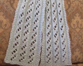Waterfall Scarf Knitting Pattern PDF