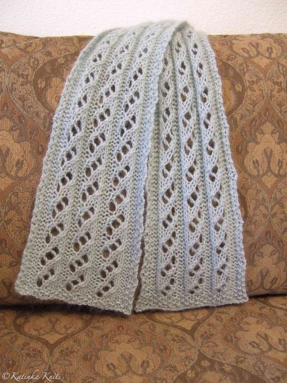 waterfall scarf knitting pattern pdf