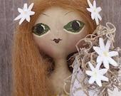 Primitive Folk Art Doll Daisy Spring