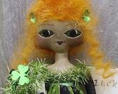 Irish Doll Primitive Folk Art St Patricks Day
