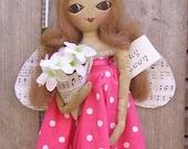 Art Doll Primitive Folk Bug Queen