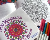 Mod Mandalas Coloring Book - 12 pages of Geometric Patterns to Color - Meditation and Relaxation